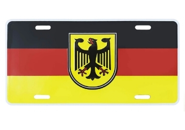 custom Germany Souvenir Lisence Plate wholesale manufacturer and supplier in China