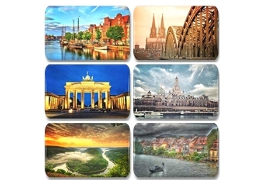 custom Germany Souvenir Wood Magnet wholesale manufacturer and supplier in China