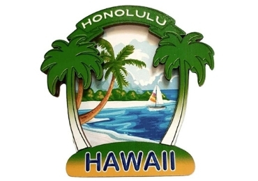 custom Hawaii Wooden Magnet wholesale manufacturer and supplier in China