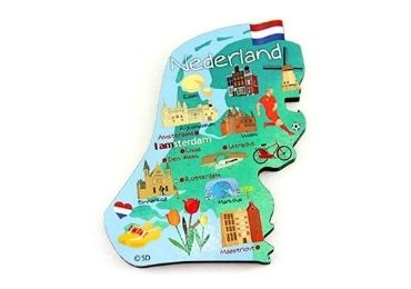 custom Holland Souvenir Wooden Magnet wholesale manufacturer and supplier in China