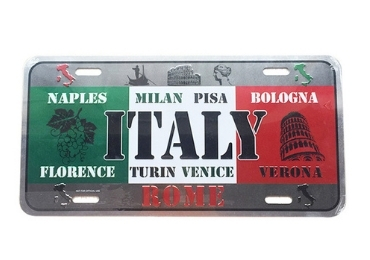 custom Italy Souvenir License Plate wholesale manufacturer and supplier in China