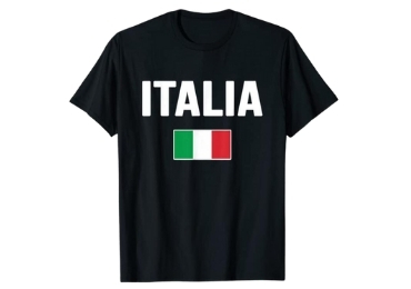 custom Italy Souvenir T-shirt wholesale manufacturer and supplier in China