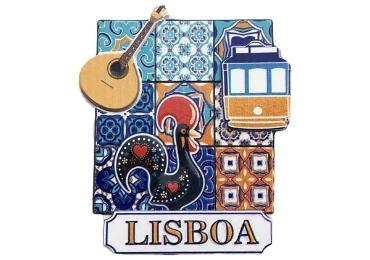 custom Lisbon Ceramic Souvenir Magnet wholesale manufacturer and supplier in China
