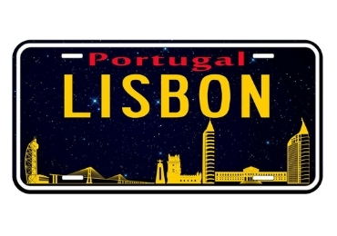 custom Lisbon Souvenir License Plate wholesale manufacturer and supplier in China