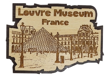 custom Louvre Museum Wooden Magnet wholeale manufacturer and supplier in China