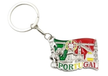 custom Metal Portugal Souvenir Keyring wholesale manufacturer and supplier in China