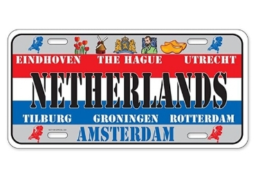 custom Netherlands Souvenir License Plate wholesale manufacturer and supplier in China