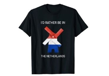 custom Netherlands Souvenir T-shirt wholesale manufacturer and supplier in China