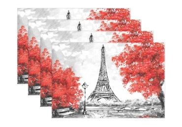 custom PP Souvenir Placemat France wholesale manfuacturer and supplier in China