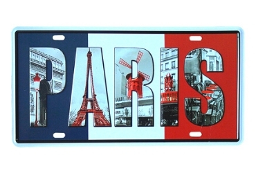 custom Paris Souvenir License Plate wholesale manufacturer and supplier in China