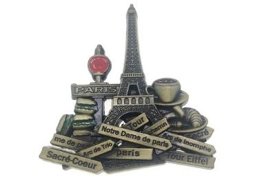 custom Paris Souvenir Metal Sticker wholesale manufacturer and supplier in China