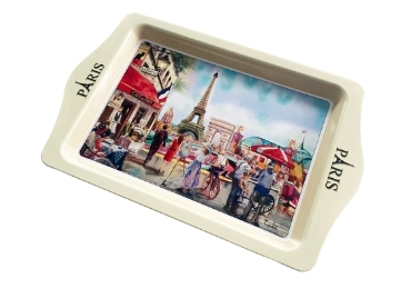 custom Paris Souvenir Metal Tray wholesale manufacturer and supplier in China