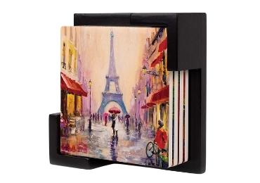 custom Plastic Souvenir Coaster Paris wholesale manufacturer and supplier in China