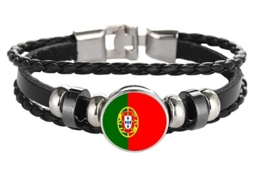 custom Portugal Flag Braided Bracelet wholesale manufacturer and supplier in China