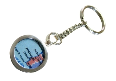 custom Portugal Map Pendant Keychain wholesale manufacturer and supplier in China