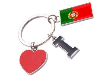 custom Portugal Souvenir Enamel Keyring wholesale manufacturer and supplier in China