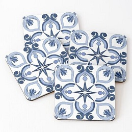 custom Portuguese Tile Coaster Souvenir wholesale manufacturer and supplier in China