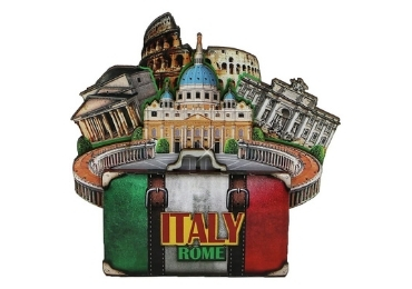 custom Rome Souvenir Wood Magnet wholesale manufacturer and supplier in China