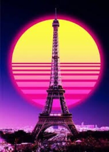 custom Souvenir Eiffel Tower Vintage Poster wholesale manufacturer and supplier in China