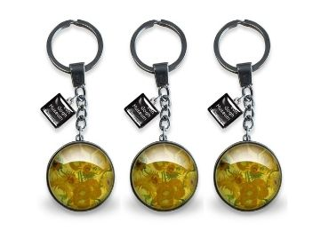 custom Van Gogh Souvenir Glass Keychain wholesale manufacturer and supplier in China