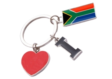 custom Africa Souvenir Metal Keychain wholesale manufacturer and supplier in China