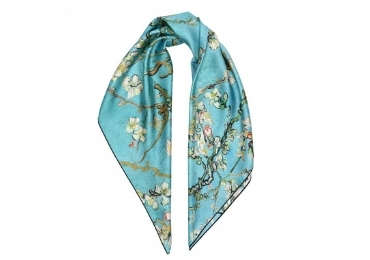 custom Almond Blossoms Silk Scarves wholesale manufacturer and supplier in China