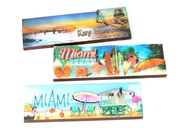 custom America Souvenir Wooden Magnet wholesale manufacturer and supplier in China