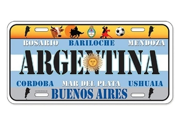 custom Argentina Souvenir License Plate wholesale manufacturer and supplier in China
