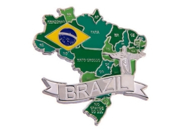 custom Brazil Souvenir Metal Magnet wholesale manufacturer and supplier in China
