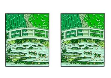custom Claude Monet Enamel Pin wholesale manufacturer and supplier in China