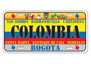 custom Colombia Souvenir License Plate wholesale manufacturer and supplier in China