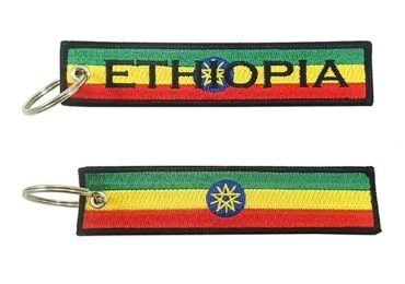 custom Ethiopia Souvenir Fabric Keychain wholesale manufacturer and supplier in China
