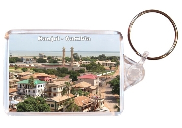 custom Gambia Souvenir Plastic Keyring wholesale manufacturer and supplier in China