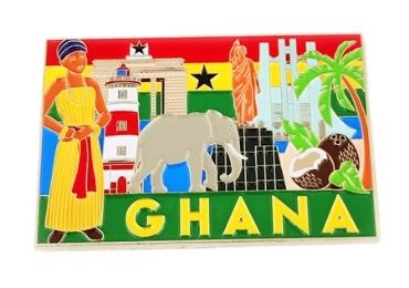 custom Ghana Souvenir Metal Magnet wholesale manufacturer and supplier in China