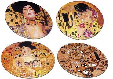 custom Gustav Klimt Acrylic Coaster wholesale manufacturer and supplier in China