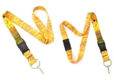 custom Gustav Klimt Fabric Lanyard wholesale manufacturer and supplier in China