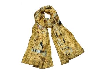 custom Gustav Klimt Silk Scarf wholesale manufacturer and supplier in China