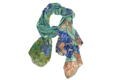 custom Irises Souvenir Scarves wholesale manufacturer and supplier in China