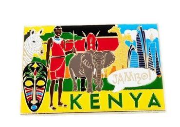 custom Kenya Souvenir Metal Magnet wholesale manufacturer and supplier in China