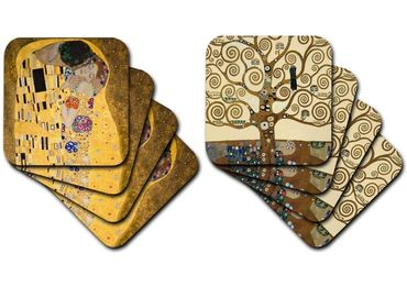 custom Klimt Painting Souvenir Coaster wholesale manufacturer and supplier in China