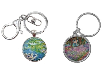 custom Monet Painting Metal Keychain wholesale manufacturer and supplier in China