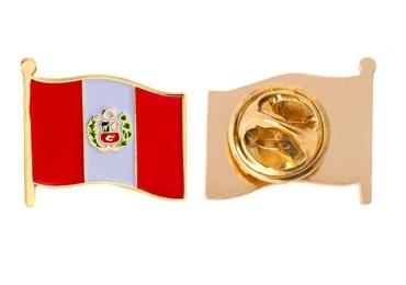 custom Peru Souvenir Lapel Pin wholesale manufacturer and supplier in China
