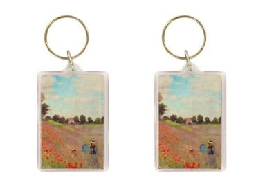 custom Poppy Field Plastic Keyring wholesale manufacturer and supplier in China