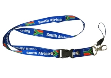 custom South Africa Souvenir Lanyard wholesale manufacturer and supplier in China