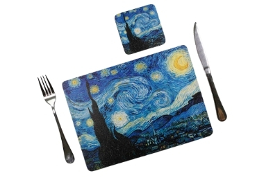 custom Starry Night Placemat Coaster wholesale manufacturer and supplier in China