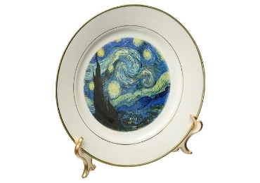 custom Starry Night Porcelain Plate wholesale manufacturer and supplier in China