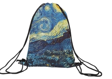 custom Van Gogh Drawstring Bags wholesale manufacturer and supplier in China