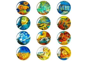 custom Van Gogh Glass Magnet wholesale manufacturer and supplier in China