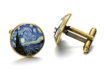 custom Van Gogh Jewelry Cufflinks wholesale manufacturer and supplier in China