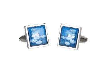custom Water Lilies Jewelry Cufflinks wholesale manufacturer and supplier in China